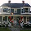 Larger than life nutcrackers greet visitors at 5 Main Street, Newtown.  (Hicks photo)