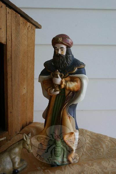 Detail of the creche at Newtown United Methodist Church.  (Hicks photo)