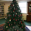 The Town & Country Garden Club has decorated a Christmas tree for the main floor at C.H. Booth Library.  (Hicks photo)