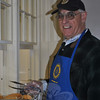 Rotary Club of Newtown member Bob Hall was busy during last Saturday's pancake breakfast.  (Crevier photo)
