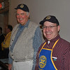 Rotary Club members Brian Amey (left) and Alan Clavette.  (Crevier photo)