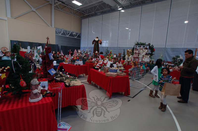 """Vendors for the St Rose """"You Can Never Have Enough Christmas"""" Boutique filled a large portion of the parish hall Friday through Sunday, December 3-5.  (Bobowick photo)"""