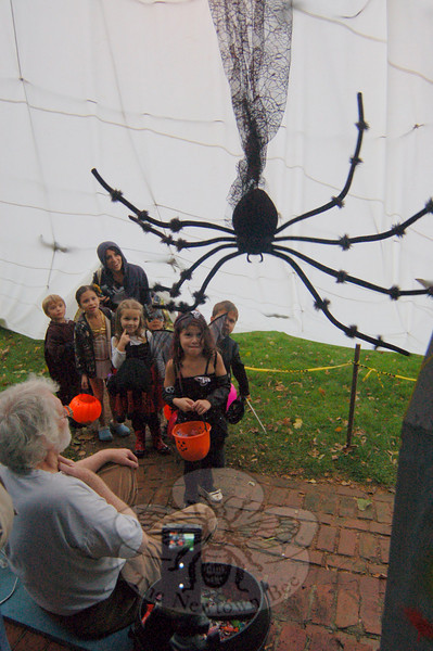 The Mulligan house, a/k/a Hillbrow, offered great surprises for those who made it into the spider web this year.  (Hallabeck photo)