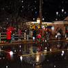 The crowd dispersed pretty quickly this year thanks to a cold rain and sleet mix that wouldn't let up.  (Bobowick photo)