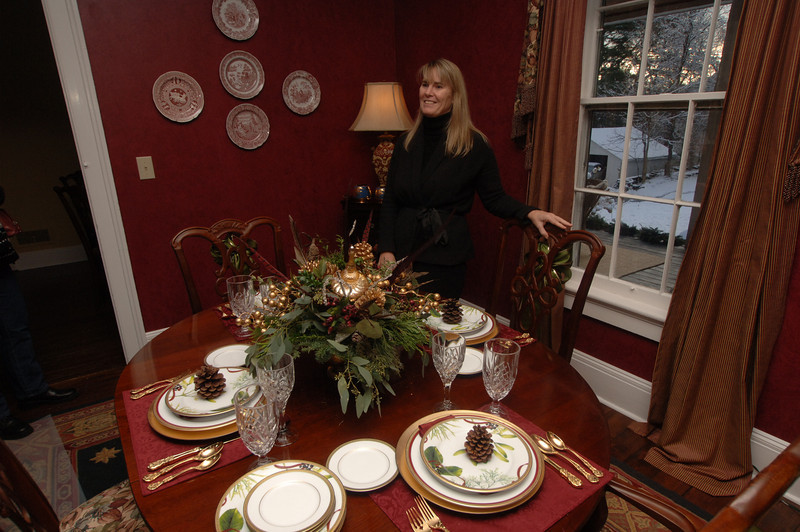 Guests were welcomed into 65 Main Street, a fine example of a high-style Italianate residence, during the 24th Newtown Holiday Festival.  (Bobowick photo)