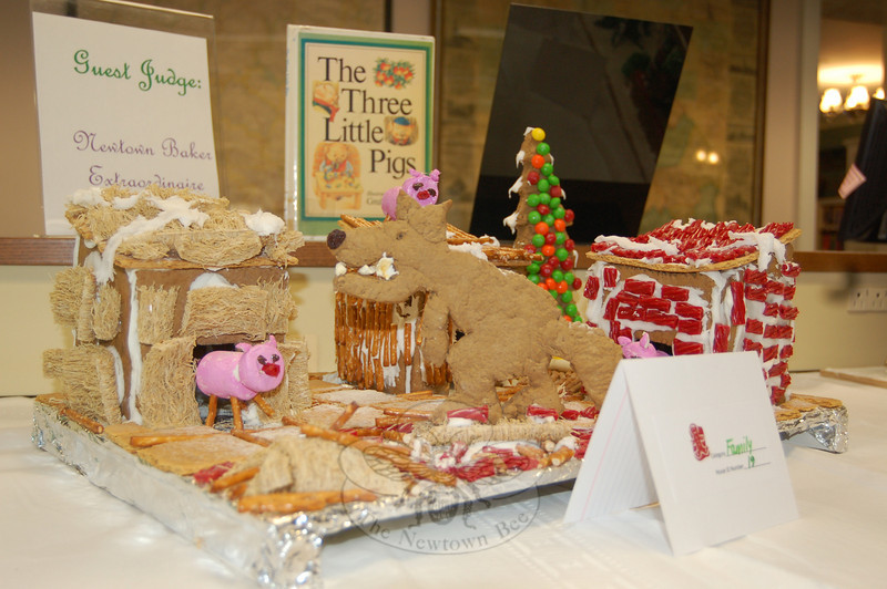 An entry in the Third Annual Gingerbread House Contest sponsored by Newtown Youth & Family Services.  (Crevier photo)