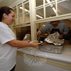 Serving up breakfast at the 49th Rotary Club of Newtown Pancake Breakfast, Saturday morning at Edmond Town Hall.  (Bobowick photo)