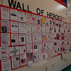 """A """"Wall Of Heroes"""" was set up at Reed Intermediate School in honor of Veterans Day on Wednesday, November 11. For the wall students submitted profiles on their heroes. (Hallabeck photo)"""
