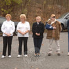 Members of the Ladies Auxiliary of VFW Post 308. At left is Debbie Sturges, who helped organize a fundraiser for the post that culminated in the placement of American flags around the post's flagpole for Veterans' Day. Proceeds from that fundraiser will be used by the ladies to pay for gifts and phone cards during the holidays.  (Bobowick photo)