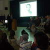 Students at Hawley Elementary School watched a slide show made from photos students submitted of veterans on November 11.  (Hallabeck photo)