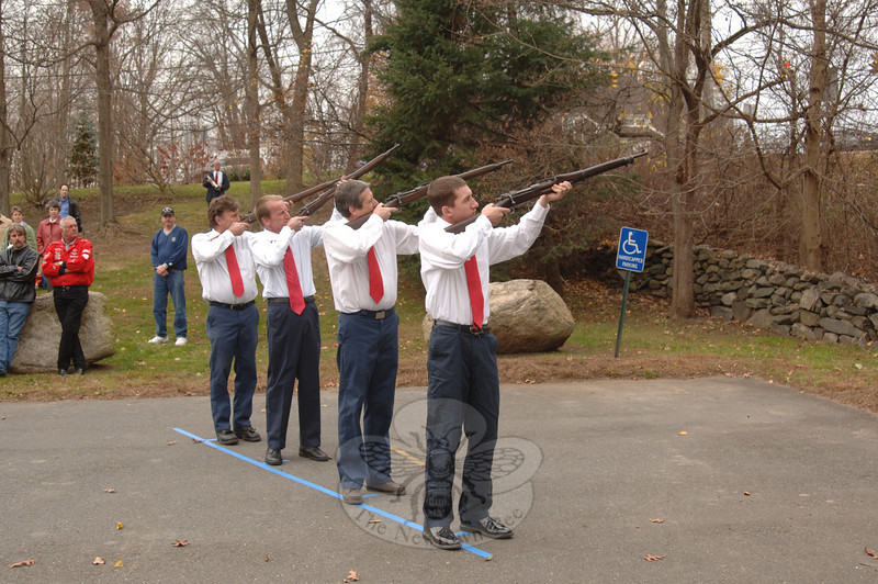 The Veterans' Day ceremony at VFW Post 308.  (Bobowick photo)