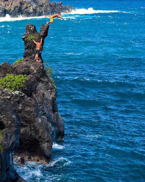 RM Cliff jumping at Hana State Park 700_5489