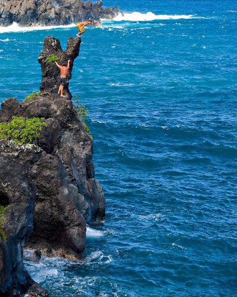 RM Cliff jumping at Hana State Park 700_5488