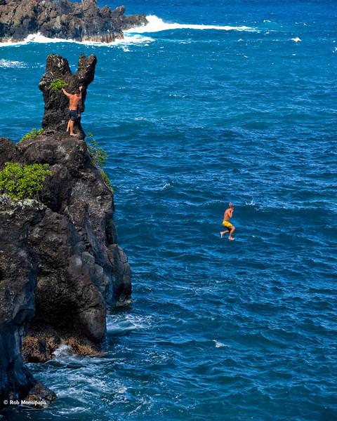 RM Cliff jumping at Hana State Park 700_5496