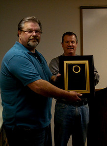 Elgin Fire Department Lt. John Fahy presenting me the First Place award from the IAFF.