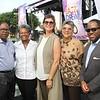 L.A. County Supervisor Mark Ridley-Thomas, Platinum Sponsor of Jazz at Drew, his wife Avis, Dr. Deborah Prothrow Stith, Dean of CDU's College of Medicine and Sebastian Ridley-Thomas.