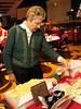 Mary Hassan from Bath, NY checks out the crafts before the sale starts.