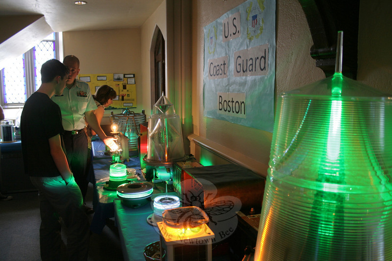 Displays by the US Coast Guard were set up inside the church and on the front lawn.   (Hicks photo)