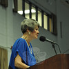Retiring Newtown Middle School Principal Diane Sherlock.   (Dietter photo)