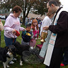 Blessing the animals at St Rose Church. (Bee Photo, Hallabeck)