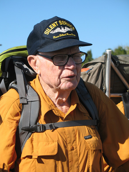 Cliff Moody, the oldest hiker, age 90