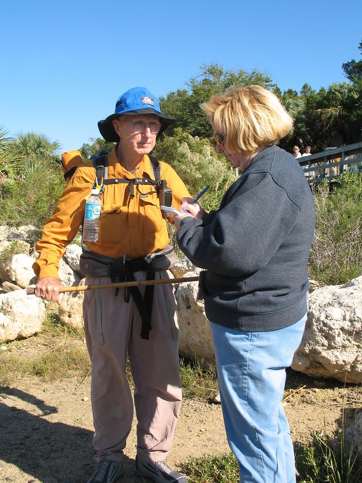 Ken talks to reporter Susan Lantham Carr of the Ocala Star Banner