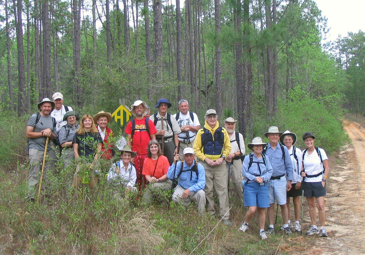 Beginning Panhandle Trace Hike at the Florida/Alabama line in 2007