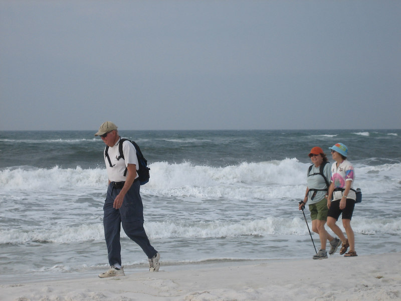 Panhandle Trace Hike, Santa Rosa Island<br /> PHOTO CREDIT: Sandra Friend / Florida Trail Association