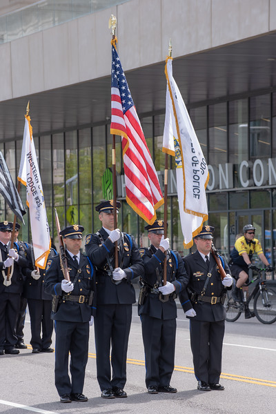 Color Guard of the Cleveland Clinic Police Department