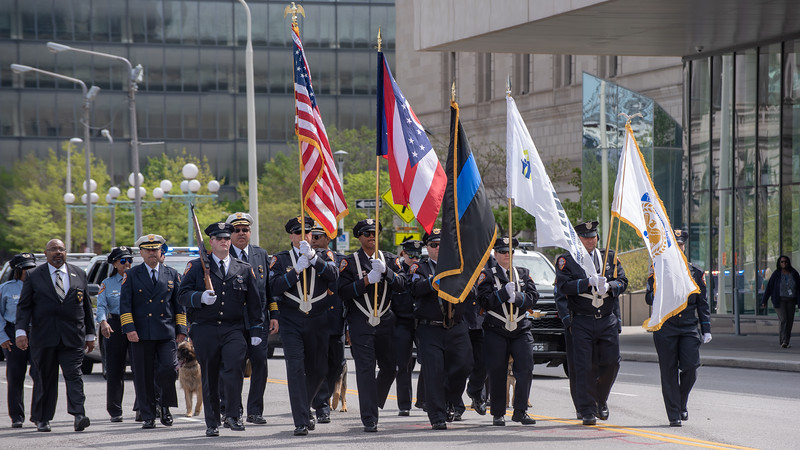 Color Guard of the Cuyahoga Metropolitan Housing Authority Police Department