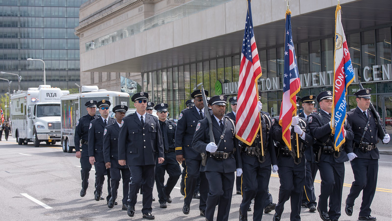 Color Guard of the Greater Cleveland Regional Transit Authority Police Department
