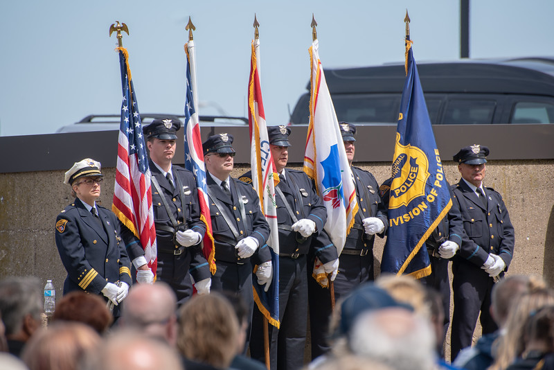 Color Guard of the Cleveland Division of Police