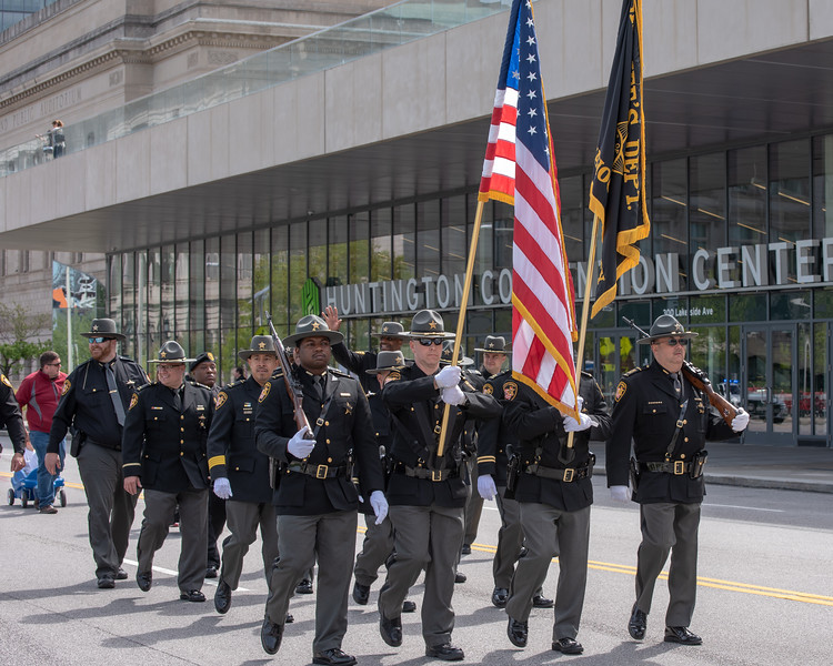 Color Guard of the Cuyahoga County Sheriff's Office