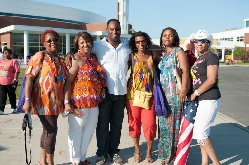 Prof. Jonathan Jackson and friends attending Real Men Cook