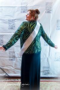 Cynthia Darlow wearing Carol Burnett's Bob Mackie jacket