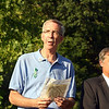 "Organizers for the dedication of the Rock of Angels granite memorial, envisioned by Florida resident Rich Gray and presented to the people of Newtown by craftspeople and residents of Maine, planned a low key ceremony. That is what was delivered early Monday evening, August 12. Approximately 100 people attended the brief dedication ceremony behind St John's Episcopal Church, where the 10-foot by 4-foot stone memorial has found its permanent home, nestled into a natural amphitheater of trees and shrubbery. Read more here, <a href=""http://www.newtownbee.com/news/news/2013/08/13/rock-angels-dedicated-sandy-hook/155249"">http://www.newtownbee.com/news/news/2013/08/13/rock-angels-dedicated-sandy-hook/155249</a>. (Hicks photo)"