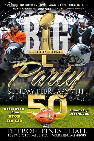 Super Bowl 50 Party 2-7-16 Sunday