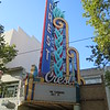 Crest Theatre sign and marquee.