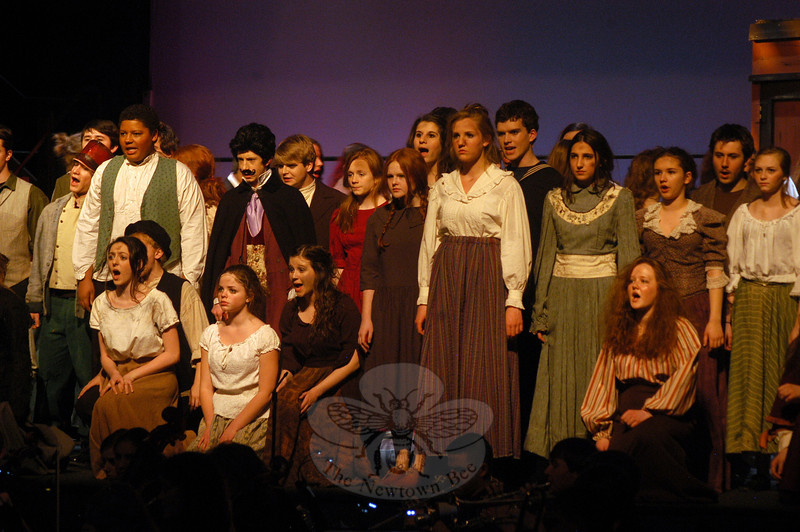 The Newtown High School's Drama Club is set to take the stage this weekend, Thursday through Sunday, March 15-18, with this year's musical production of the school version of Stephen Sondheim's Sweeney Todd. —Bee Photo, Hallabeck