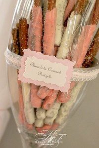 Baby Girl Shower | Photography/Event Planning | Handmade Chocolate Dipped Pretzels Rods for Candy Table