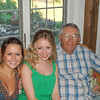 Cousin Jamie & Casey with Great Uncle Bob Hildebrand at Brett's graduation party in July.