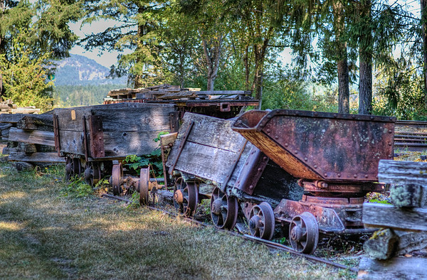 Mining Cars - BC Forest Discovery Centre, Duncan, BC, Canada
