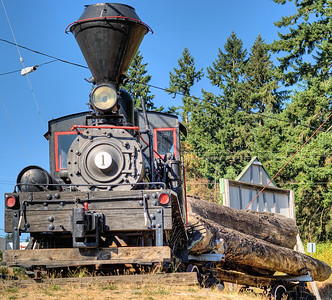 "Steam Locomotive - BC Forest Discovery Centre, Duncan, BC, Canada Visit our blog ""The Untrained Eye"" for the story behind the photo."