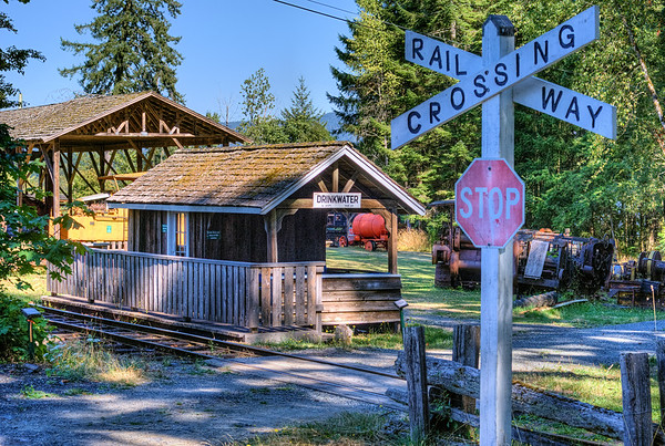 Train Crossing - BC Forest Discovery Centre, Duncan, BC, Canada