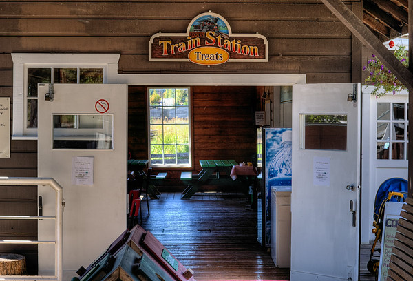 Train Station - BC Forest Discovery Centre, Duncan, BC, Canada