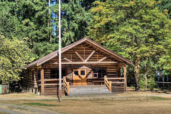 Log House - BC Forest Discovery Centre, Duncan, BC, Canada