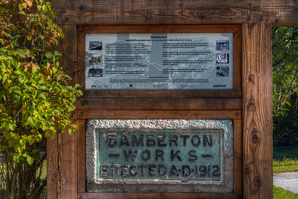 Bamberton Works Sign - Bamberton, Vancouver Island, BC, Canada