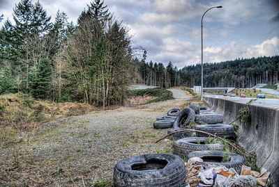 """Bear Mountain Overpass - Langford BC Canada Visit our blog """"I Really DO Have A Bridge For Sale"""" for the story behind the photo."""