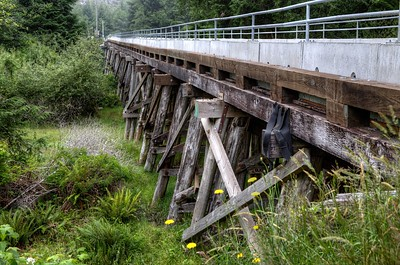"Forgotten and Abandoned Bridge - Port Renfrew, BC, Canada Visit our blog ""Bridge Out Ahead"" for the story behind the photo."