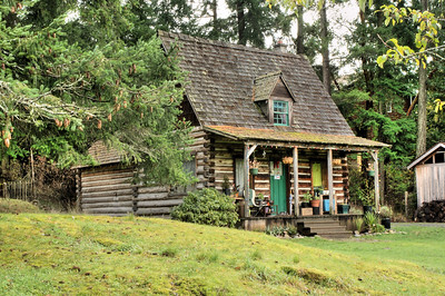 The Gregory House, Caleb Pike Heritage Park - Victoria, BC, Canada